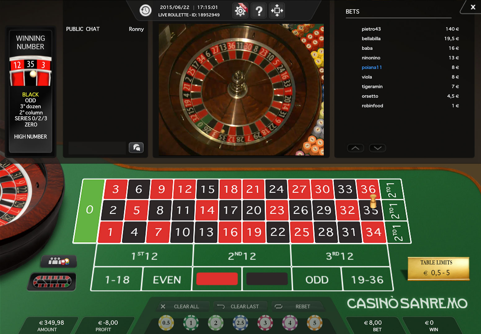 Live roulette NorskeAutomater 87063